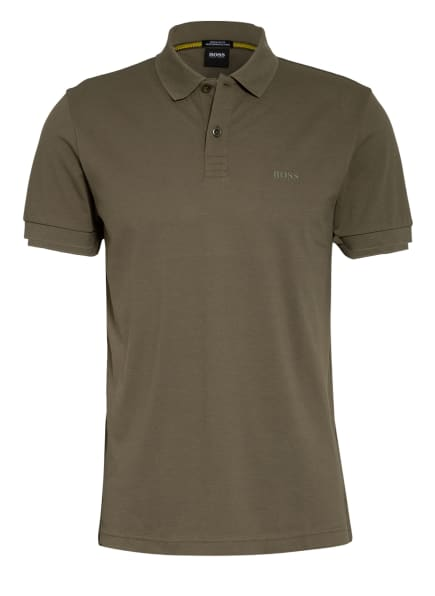 BOSS Piqué-Poloshirt PIRO Regular Fit , Farbe: OLIV (Bild 1)