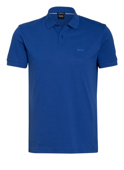 BOSS Piqué-Poloshirt PIRO Regular Fit , Farbe: BLAU (Bild 1)