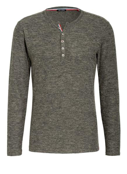 KEY LARGO Henley-Shirt NILS, Farbe: OLIV (Bild 1)