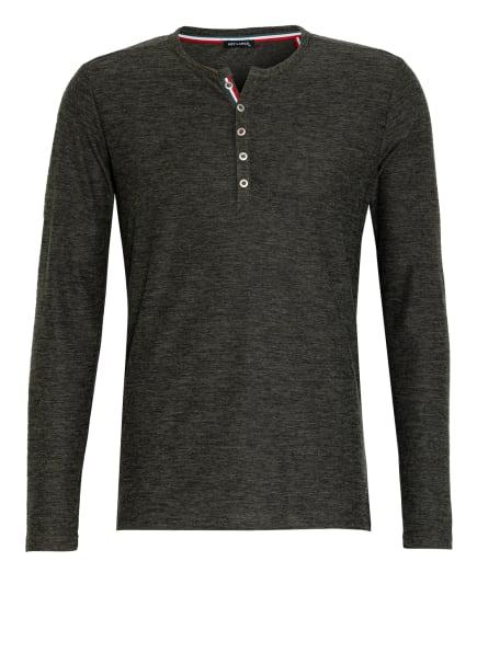KEY LARGO Henley-Shirt NILS, Farbe: DUNKELGRÜN (Bild 1)