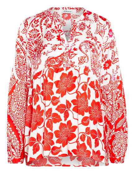 Grace Bluse, Farbe: WEISS/ ROT (Bild 1)