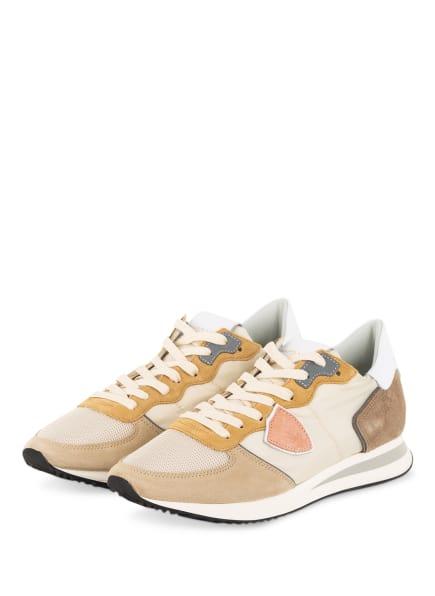PHILIPPE MODEL Sneaker TRPX MONDIAL, Farbe: CREME/ HELLBRAUN (Bild 1)
