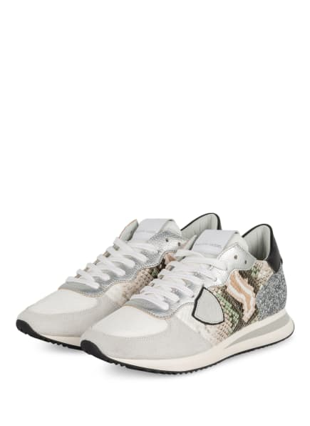 PHILIPPE MODEL Sneaker TRPX, Farbe: HELLGRAU/ WEISSGOLD (Bild 1)