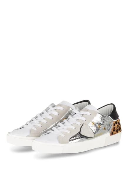 PHILIPPE MODEL Sneaker PRSX LD, Farbe: WEISS/ SILBER (Bild 1)