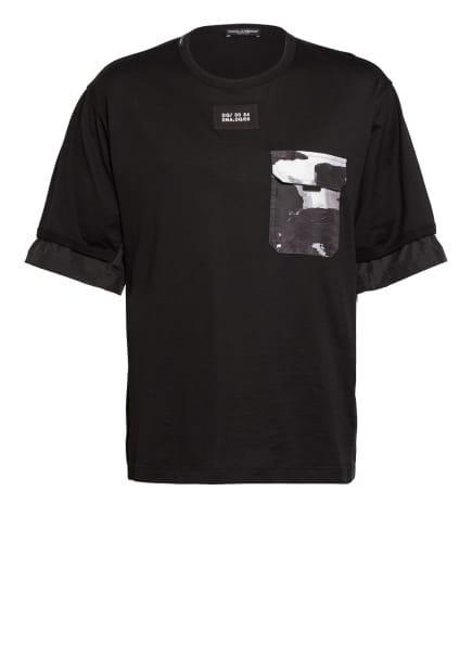 DOLCE&GABBANA T-Shirt , Farbe: SCHWARZ/ WEISS/ GRAU (Bild 1)