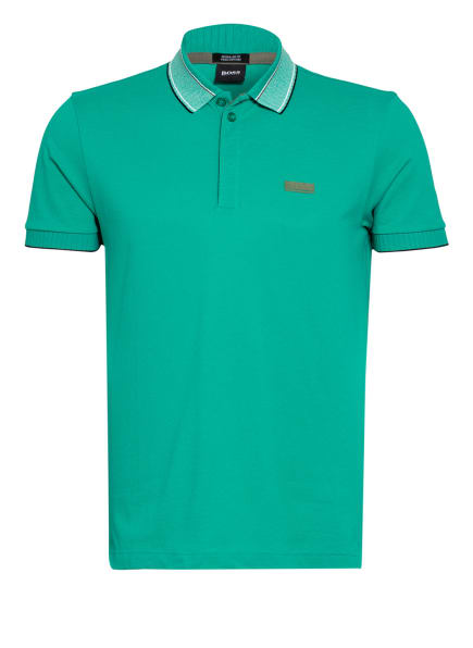 BOSS Piqué-Poloshirt PADDY Regular Fit, Farbe: PETROL (Bild 1)
