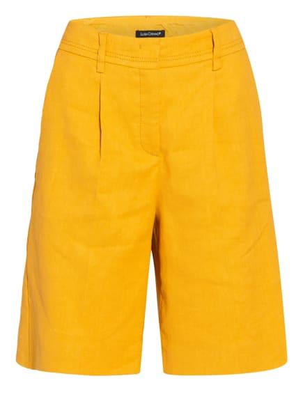 LUISA CERANO Shorts mit Leinen, Farbe: DUNKELGELB (Bild 1)