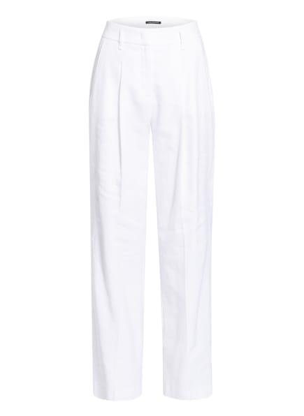 LUISA CERANO Hose mit Leinen, Farbe: WEISS (Bild 1)