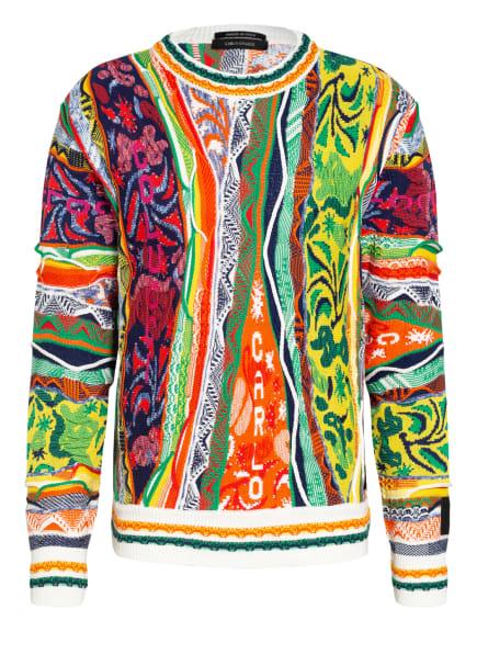 CARLO COLUCCI Pullover, Farbe: GRÜN/ GELB/ ORANGE (Bild 1)