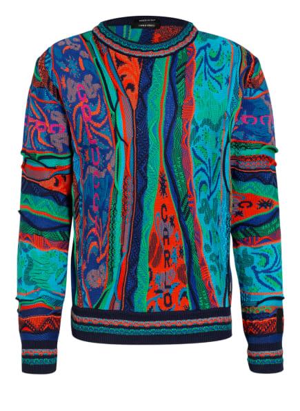 CARLO COLUCCI Pullover, Farbe: TÜRKIS/ ORANGE/ BLAU (Bild 1)