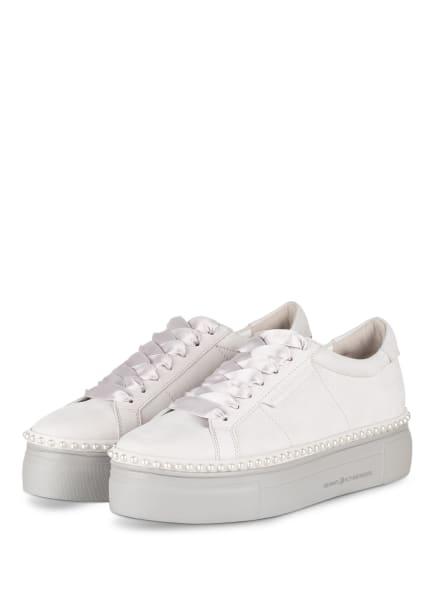 KENNEL & SCHMENGER Plateau-Sneaker NANO mit Perlenbesatz, Farbe: HELLGRAU (Bild 1)
