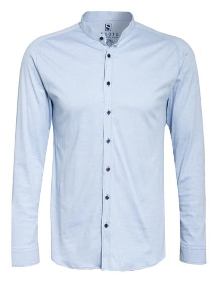 DESOTO Jerseyhemd Slim Fit mit Stehkragen, Farbe: HELLBLAU (Bild 1)