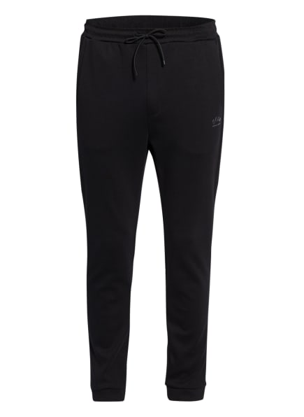BOSS Sweatpants HADIKO im Materialmix, Farbe: 001 BLACK (Bild 1)
