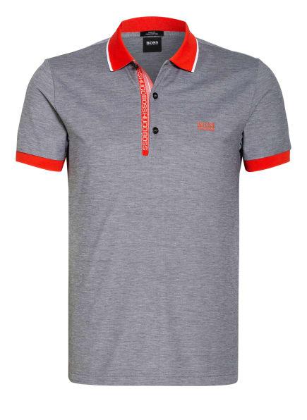 BOSS Piqué-Poloshirt PAULE Slim Fit, Farbe: SCHWARZ/ ROT/ WEISS (Bild 1)