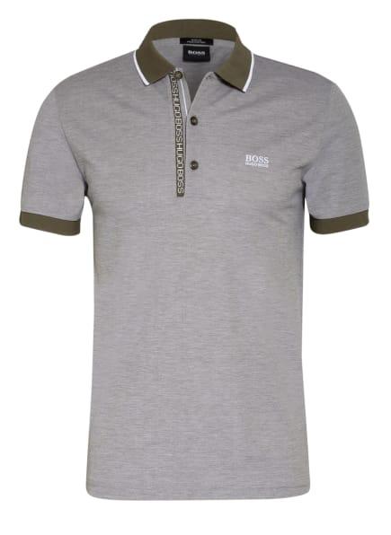 BOSS Piqué-Poloshirt PAULE Slim Fit, Farbe: OLIV/ WEISS (Bild 1)