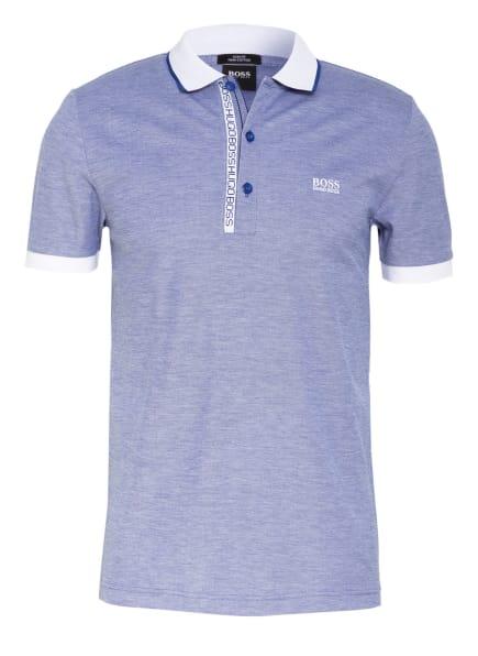 BOSS Piqué-Poloshirt PAULE Slim Fit, Farbe: BLAU/ WEISS (Bild 1)