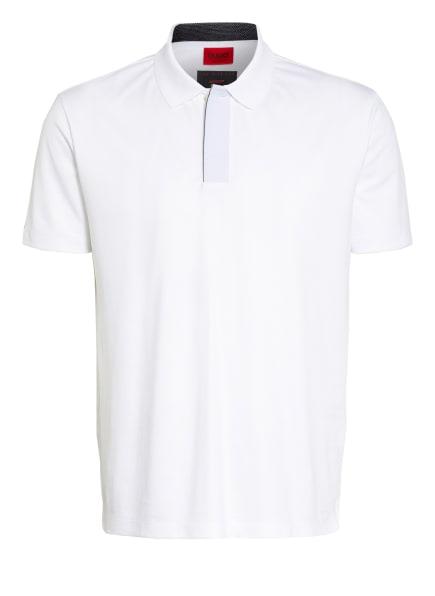 HUGO Piqué-Poloshirt DEKOK Regular Fit, Farbe: WEISS (Bild 1)
