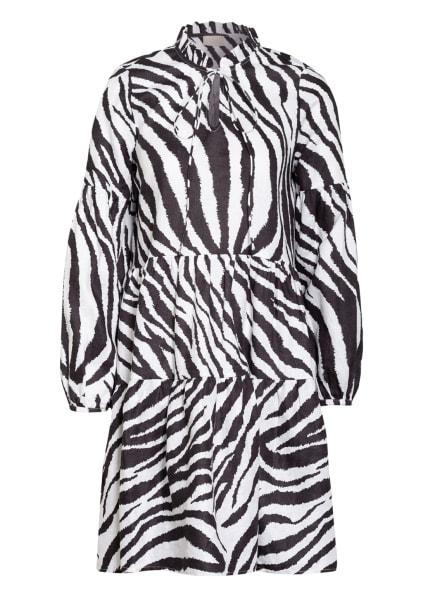 Mrs & HUGS Leinenkleid mit Rüschenbesatz, Farbe: SCHWARZ/ WEISS (Bild 1)