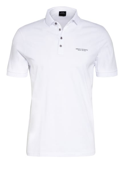 ARMANI EXCHANGE Jersey-Poloshirt, Farbe: WEISS (Bild 1)
