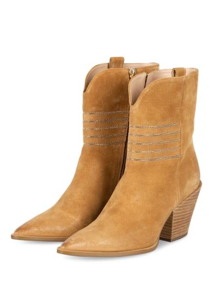 STEFFEN SCHRAUT Cowboy Boots, Farbe: BEIGE/ SILBER (Bild 1)