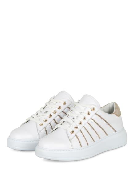 STEFFEN SCHRAUT Plateau-Sneaker, Farbe: WEISS/ GOLD (Bild 1)