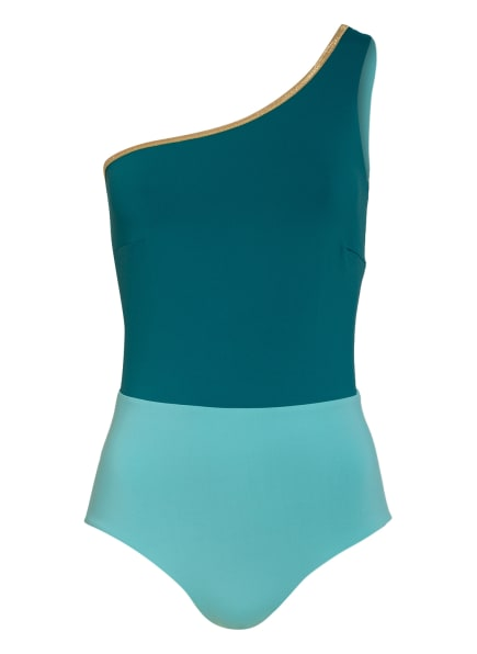 MYMARINI One-Shoulder-Badeanzug zum Wenden , Farbe: PETROL/ MINT (Bild 1)