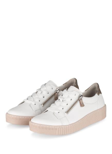 Gabor Plateau-Sneaker, Farbe: WEISS/ NUDE (Bild 1)
