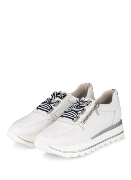 Gabor Plateau-Sneaker LAS VEGAS, Farbe: WEISS/ SILBER (Bild 1)