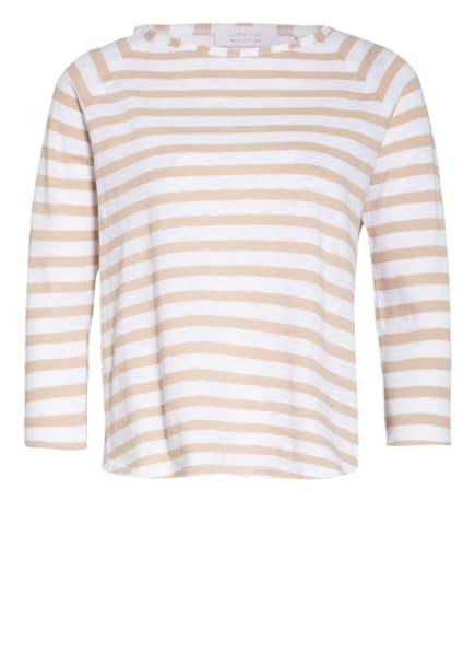 rich&royal Shirt mit 3/4-Arm, Farbe: WEISS/ CAMEL (Bild 1)