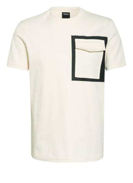 BOSS T-Shirt TSCUBA, Farbe: ECRU/ SCHWARZ (Bild 1)