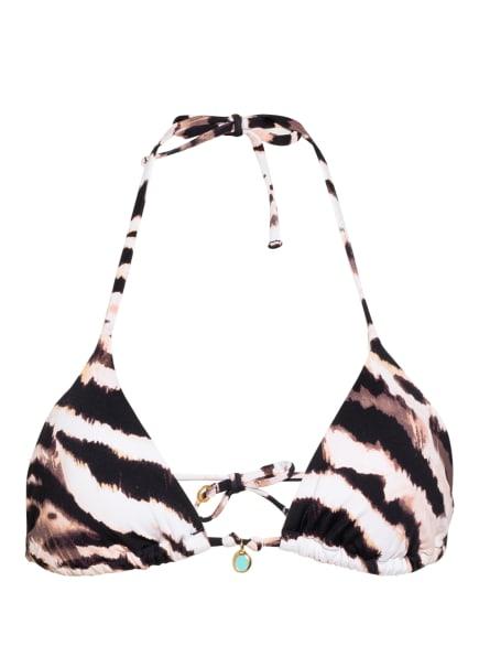 BANANA MOON COUTURE Triangel-Bikini-Top NELBA JOTRAO, Farbe: ECRU/ SCHWARZ/ BRAUN (Bild 1)