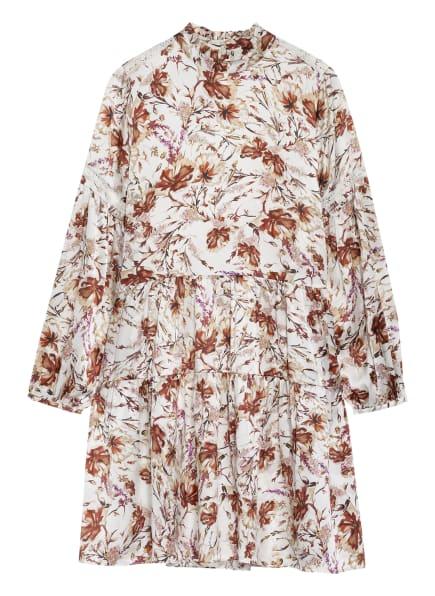 Mrs & HUGS Seidenkleid mit Spitzeneinsätzen, Farbe: CREME/ BRAUN (Bild 1)