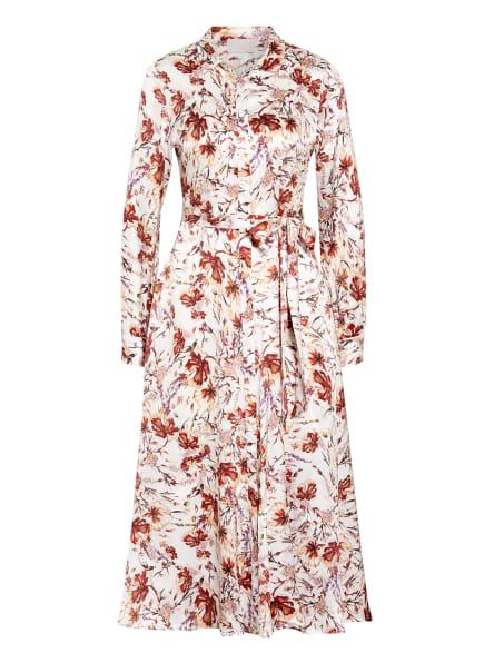 Mrs & HUGS Hemdblusenkleid aus Seide , Farbe: ECRU/ BRAUN (Bild 1)