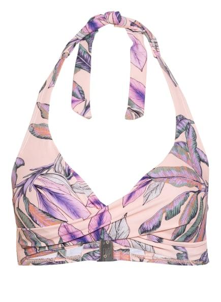 BEACHLIFE Neckholder-Bikini-Top TROPCAL BLUSH , Farbe: NUDE/ HELLGRÜN/ HELLLILA (Bild 1)
