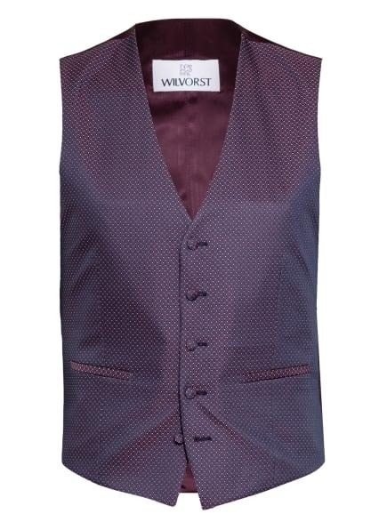 WILVORST Anzugweste Extra Slim Fit, Farbe: DUNKELROT/ WEISS (Bild 1)