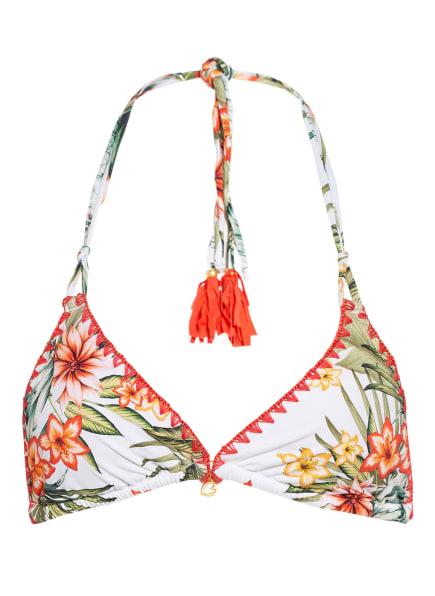 BANANA MOON Neckholder-Bikini-Top NUCO , Farbe: ECRU/ DUNKELORANGE/ OLIV (Bild 1)