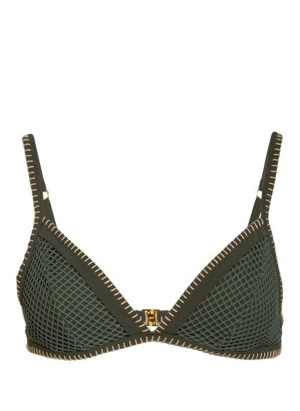 BANANA MOON Triangel-Bikini-Top SANTOS TAEKO, Farbe: GRÜN/ HELLBRAUN (Bild 1)