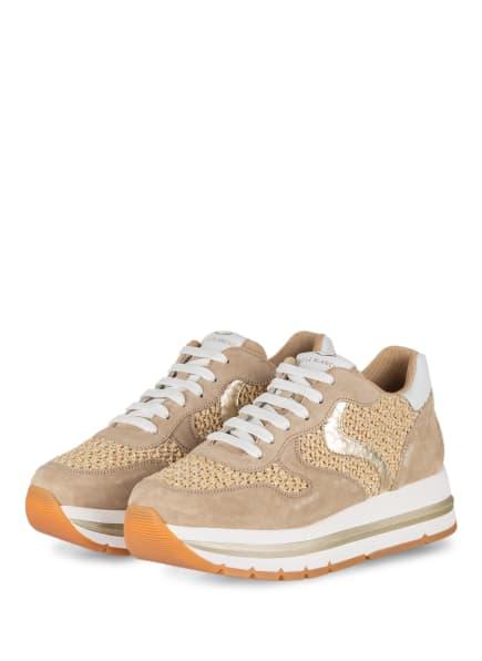 VOILE BLANCHE Plateau-Sneaker MARAN, Farbe: BEIGE/ WEISS/ GOLD (Bild 1)