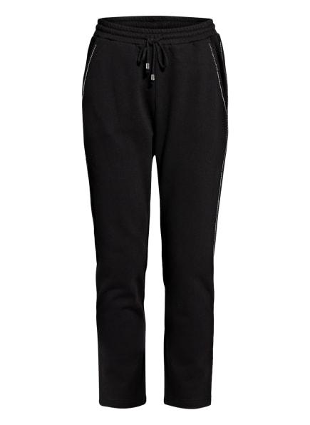 PATRIZIA PEPE Sweatpants mit Schmucksteinbesatz , Farbe: SCHWARZ (Bild 1)