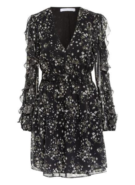 PATRIZIA PEPE Kleid mit Volantbesatz, Farbe: SCHWARZ/ WEISS/ GRÜN (Bild 1)