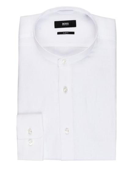 BOSS Leinenhemd JORDIN Slim Fit mit Stehkragen, Farbe: WEISS (Bild 1)