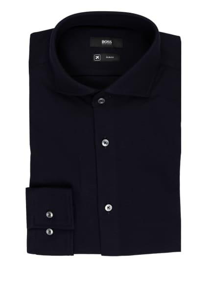 BOSS Piqué-Hemd JASON Slim Fit, Farbe: DUNKELBLAU (Bild 1)