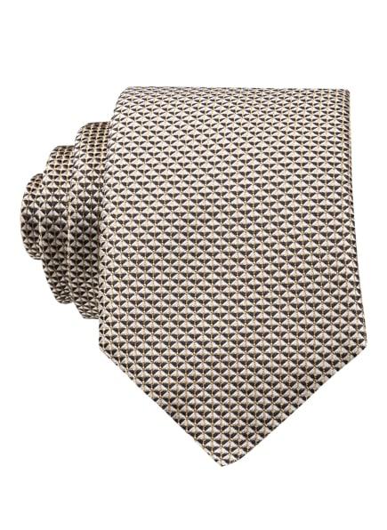 BOSS Krawatte, Farbe: BEIGE/ SCHWARZ (Bild 1)