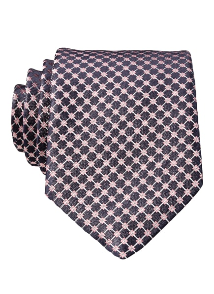 BOSS Krawatte, Farbe: DUNKELBLAU/ ROSA/ SILBER (Bild 1)