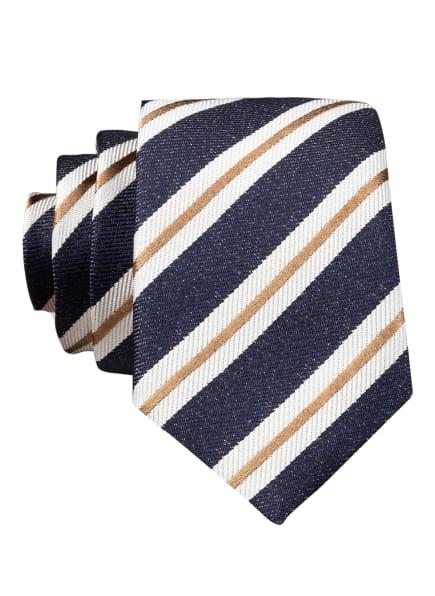 BOSS Krawatte, Farbe: BLAU/ SCHWARZ/ BEIGE (Bild 1)