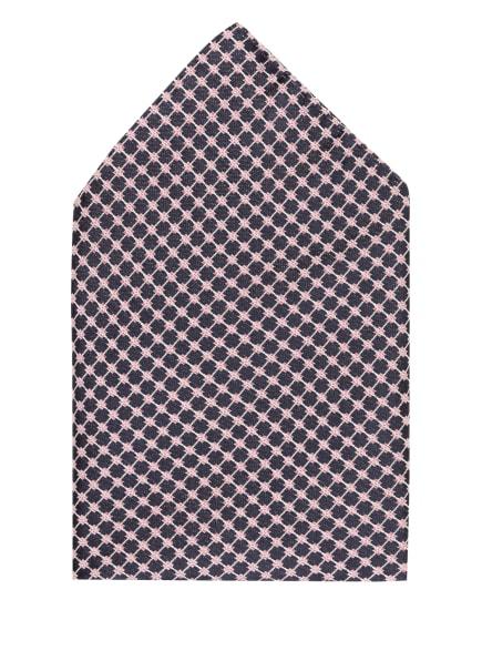 BOSS Einstecktuch aus Seide, Farbe: DUNKELBLAU/ HELLROSA (Bild 1)