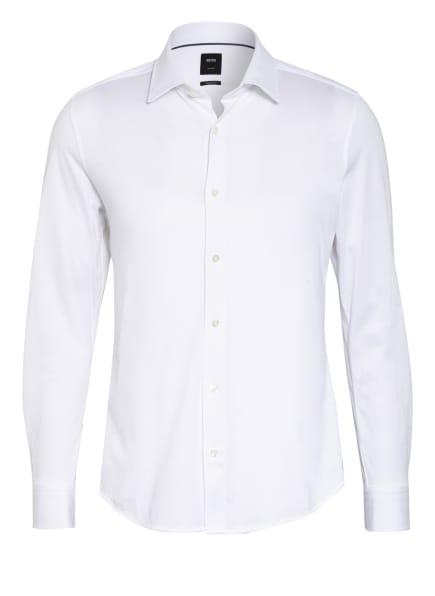 BOSS Jerseyhemd LANDON Regular Fit, Farbe: WEISS (Bild 1)