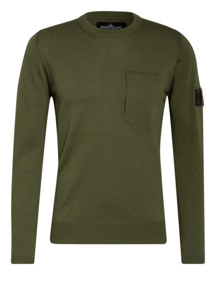 STONE ISLAND SHADOW PROJECT Pullover mit Seide, Farbe: GRÜN (Bild 1)