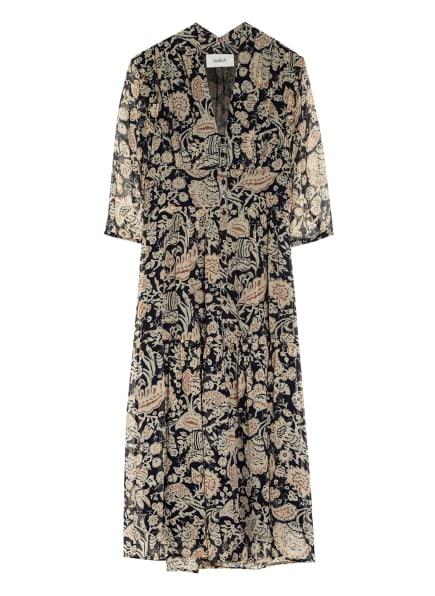 ba&sh Kleid ALINE mit 3/4-Arm, Farbe: DUNKELBLAU/ ECRU/ LACHS (Bild 1)