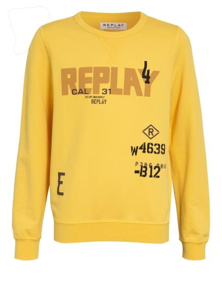 REPLAY Sweatshirt, Farbe: DUNKELGELB (Bild 1)